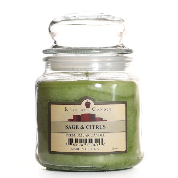 16 oz Sage and Citrus Jar Candles