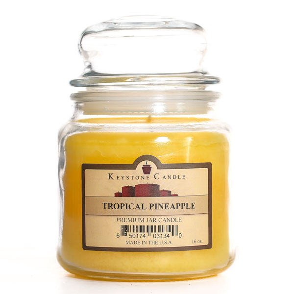 16 oz Tropical Pineapple Jar Candles