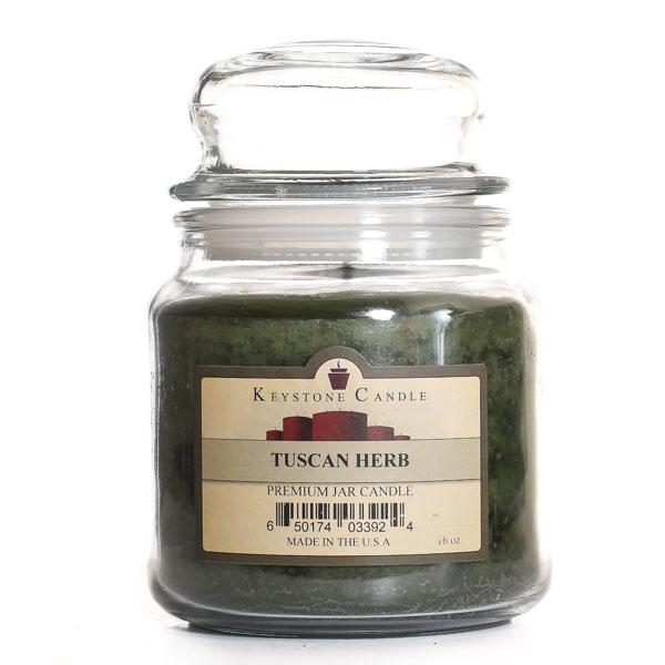 16 oz Tuscan Herb Jar Candles