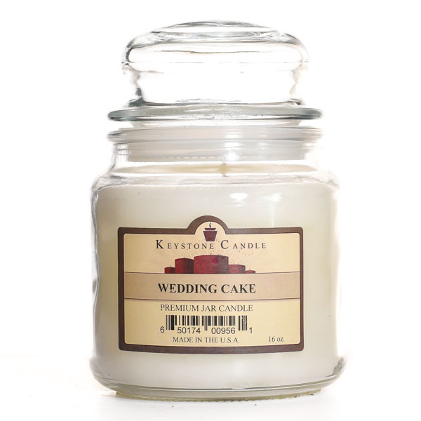 16 oz Wedding Cake Jar Candles