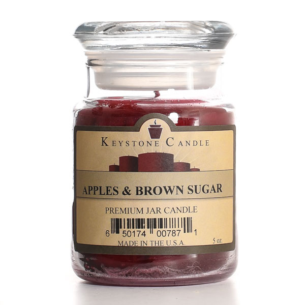 5 oz Apples and Brown Sugar Jar Candles