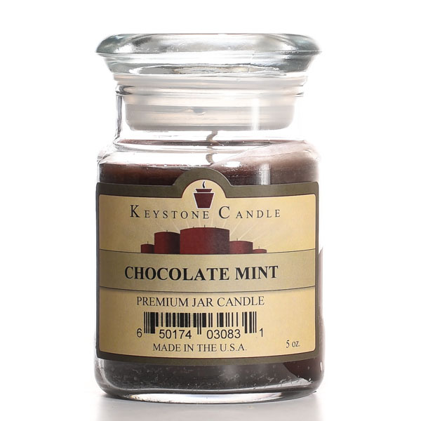 5 oz Chocolate Mint Jar Candles