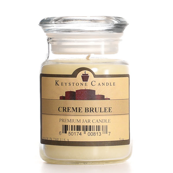 5 oz Cream Brulee Jar Candles
