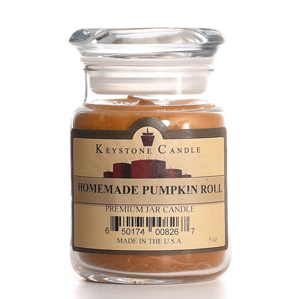 5 oz Homemade Pumpkin Roll Jar Candles
