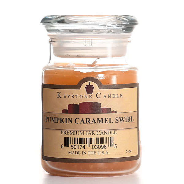 5 oz Pumpkin Caramel Swirl Jar Candles