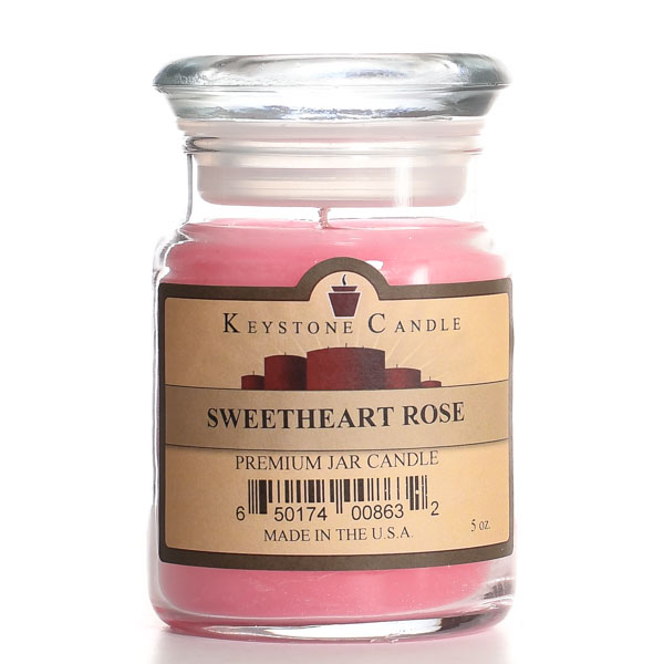 5 oz Sweetheart Rose Jar Candles
