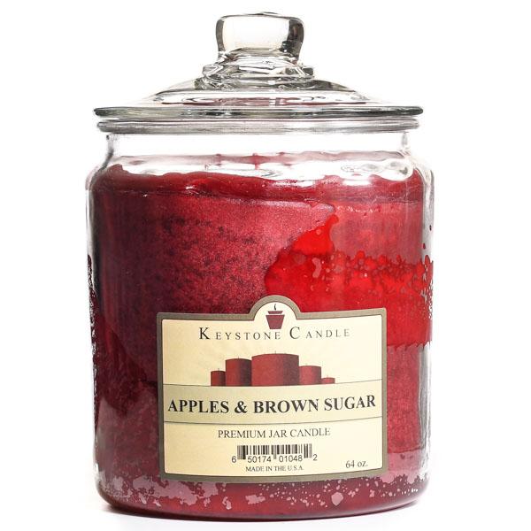 64 oz Apples and Brown Sugar Jar Candles