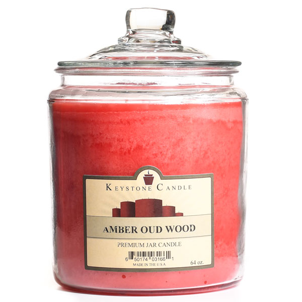 64 oz Amber Oud Wood Jar Candles