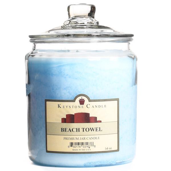 64 oz Beach Towel Jar Candles