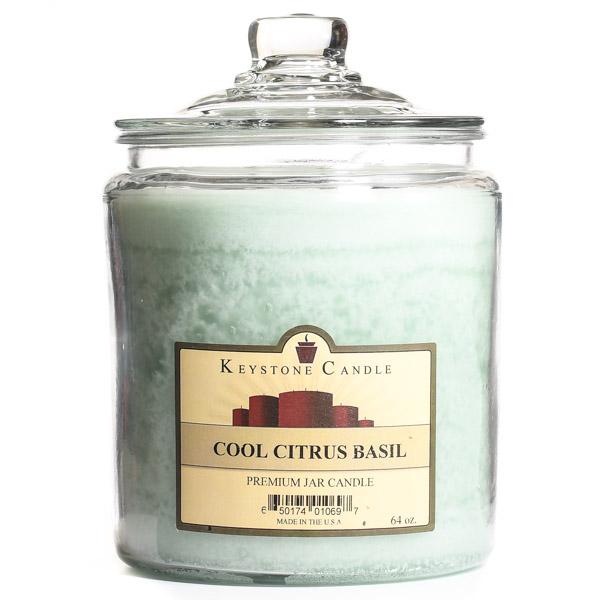 64 oz Cool Citrus Basil Jar Candles