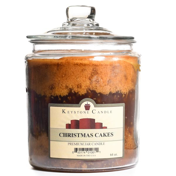 64 oz Christmas Cakes Jar Candles