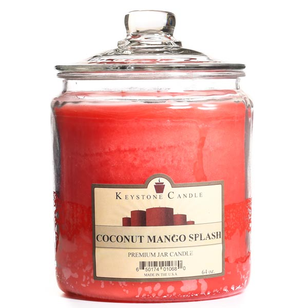 64 oz Coconut Mango Splash Jar Candles