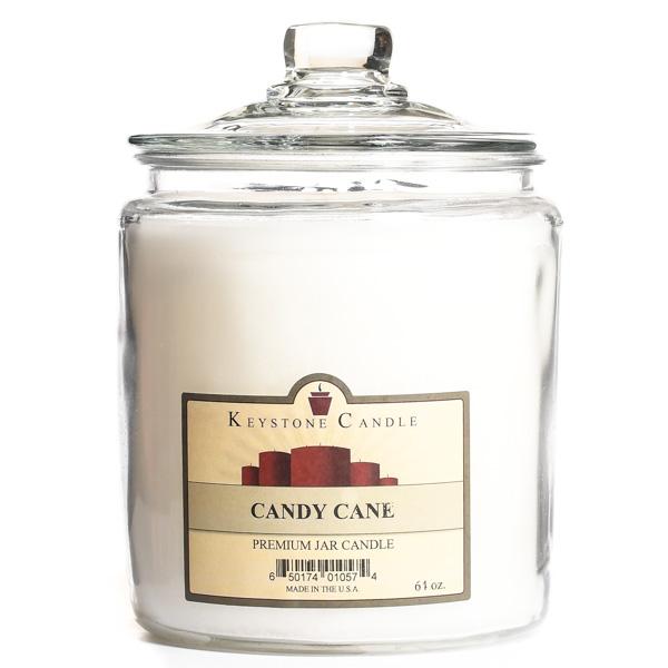 64 oz Candy Cane Jar Candles