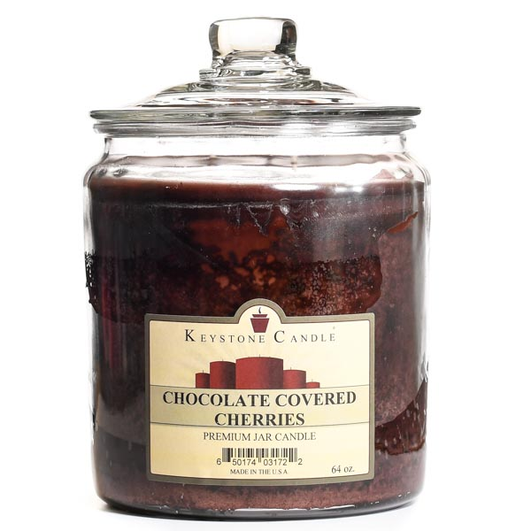 64 oz Chocolate Covered Cherries Jar Candles