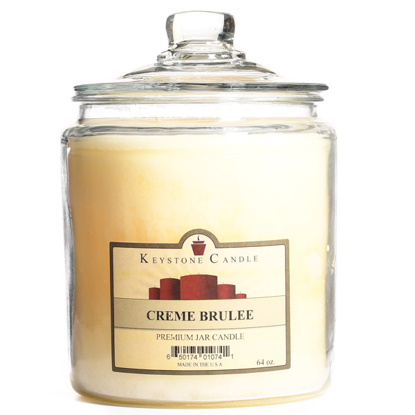 64 oz Cream Brulee Jar Candles