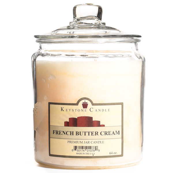 64 oz French Butter Cream Jar Candles