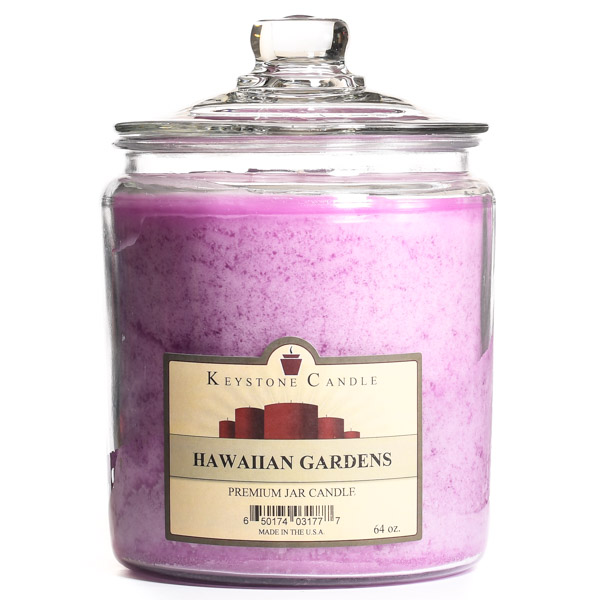 64 oz Hawaiian Gardens Jar Candles