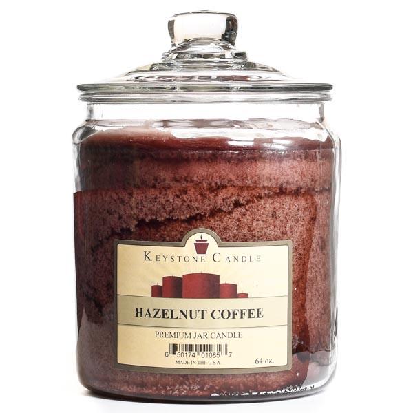 64 oz Hazelnut Coffee Jar Candles