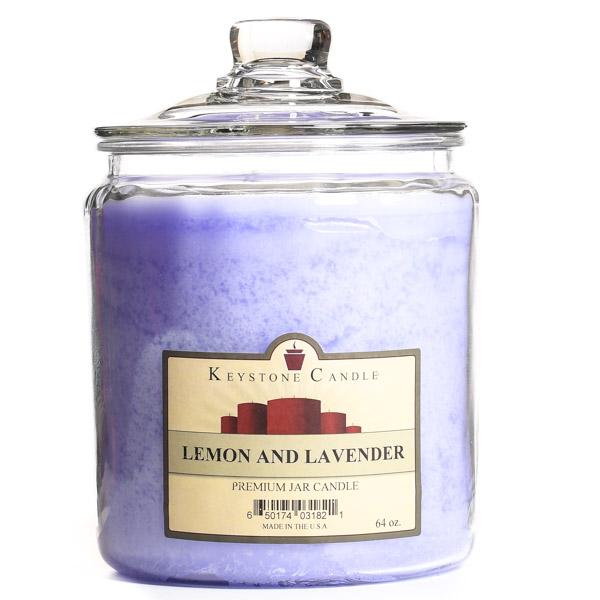 64 oz Lemon and Lavender Jar Candles
