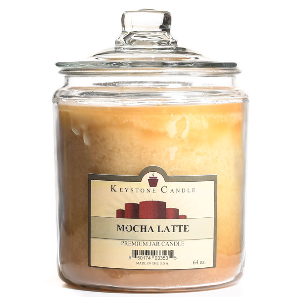 64 oz Mocha Latte Jar Candles