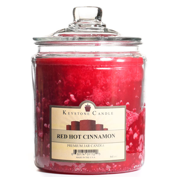 64 oz Red Hot Cinnamon Jar Candles