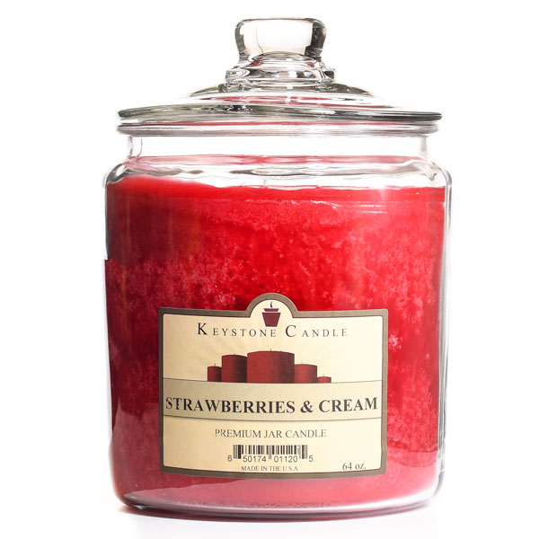 64 oz Strawberries and Cream Jar Candles