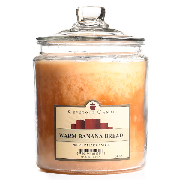 64 oz Warm Banana Bread Jar Candles