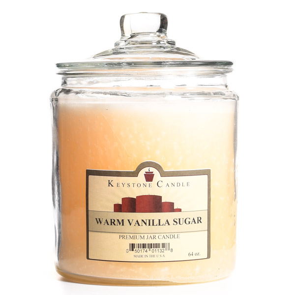 64 oz Warm Vanilla Sugar Jar Candles