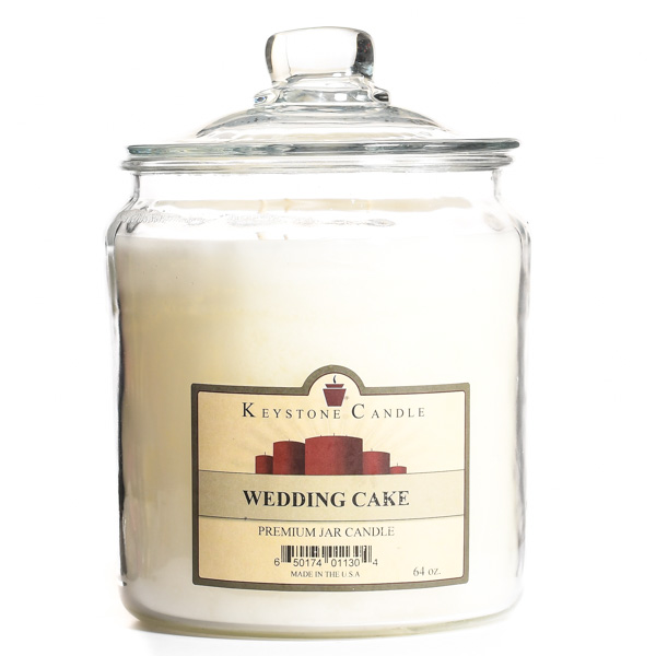 64 oz Wedding Cake Jar Candles