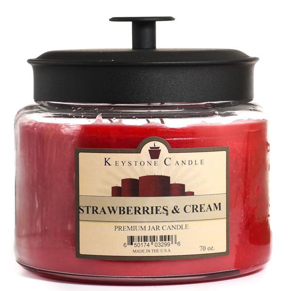 64 oz Montana Jar Candles Strawberries and Cream