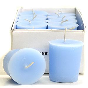 Baby Powder Blue Votive Candles