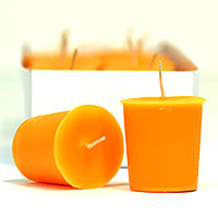 Orange Twist Votive Candles