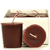Leather Pipe and Woods Votive Candles