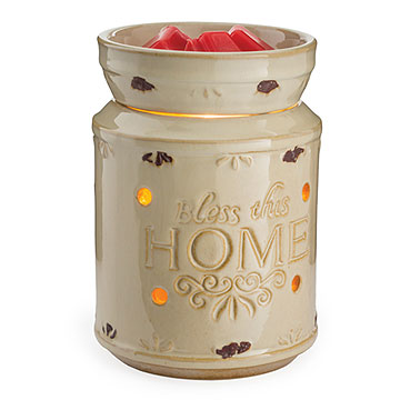 Cream Bless This Home Tart Warmer