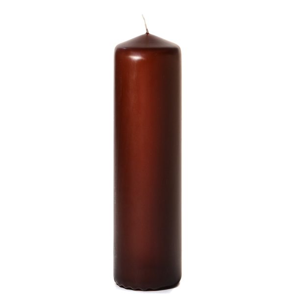3x11 Brown Pillar Candles Unscented