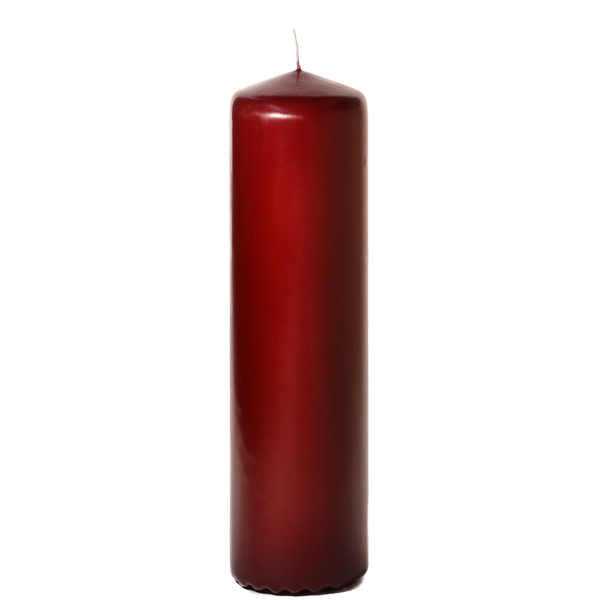 3x12 Burgundy Pillar Candles Unscented