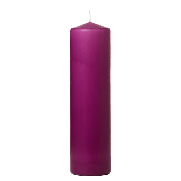 3x12 Lilac Pillar Candles Unscented