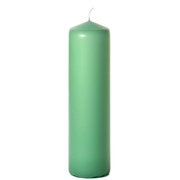 3x12 Mint Green Pillar Candles Unscented