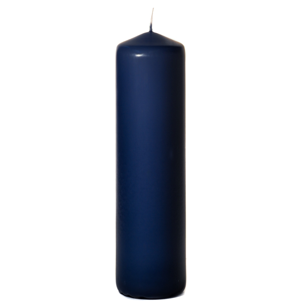 3x12 Navy Pillar Candles Unscented
