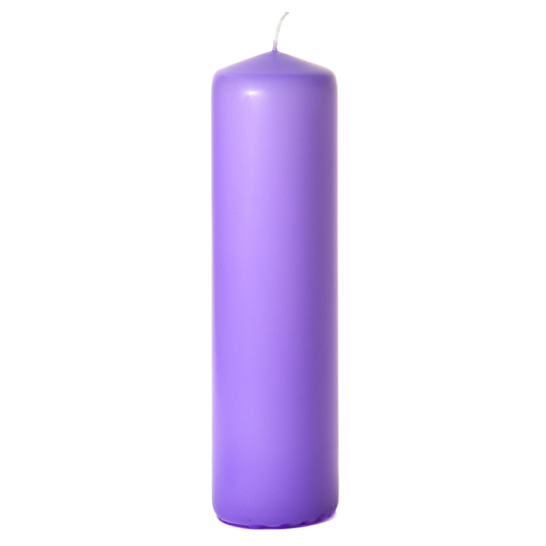 3x12 Orchid Pillar Candles Unscented