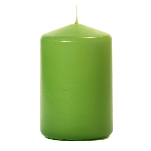 3x4 Lime Green Pillar Candles Unscented