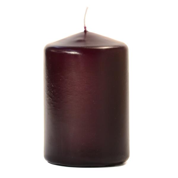 3x4 Plum Pillar Candles Unscented