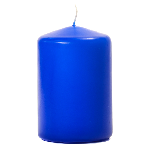 Royal Blue 3x4 Unscented Pillar Candles 3 Inch Pillar Candles