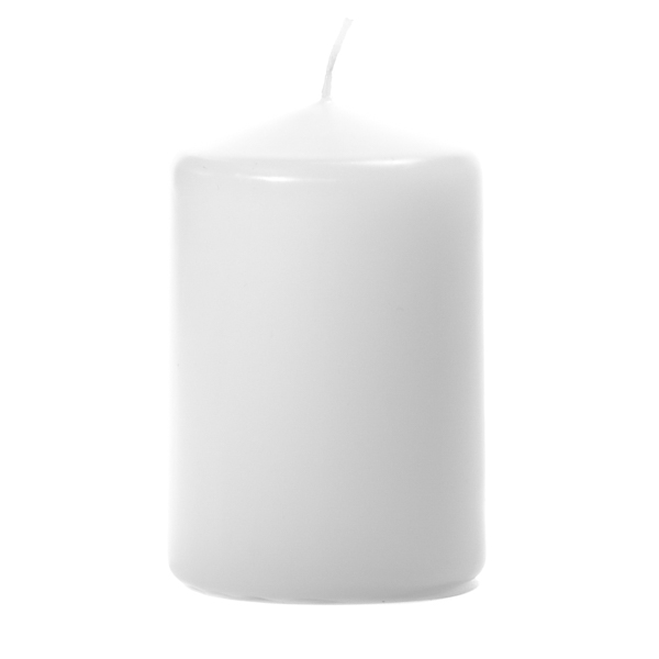 3x4 White Pillar Candles Unscented