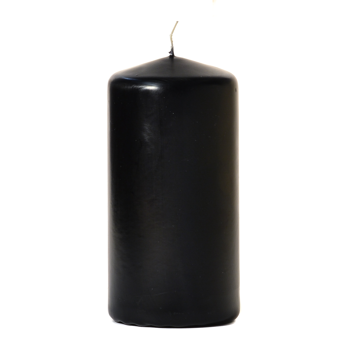 3x6 Black Pillar Candles Unscented