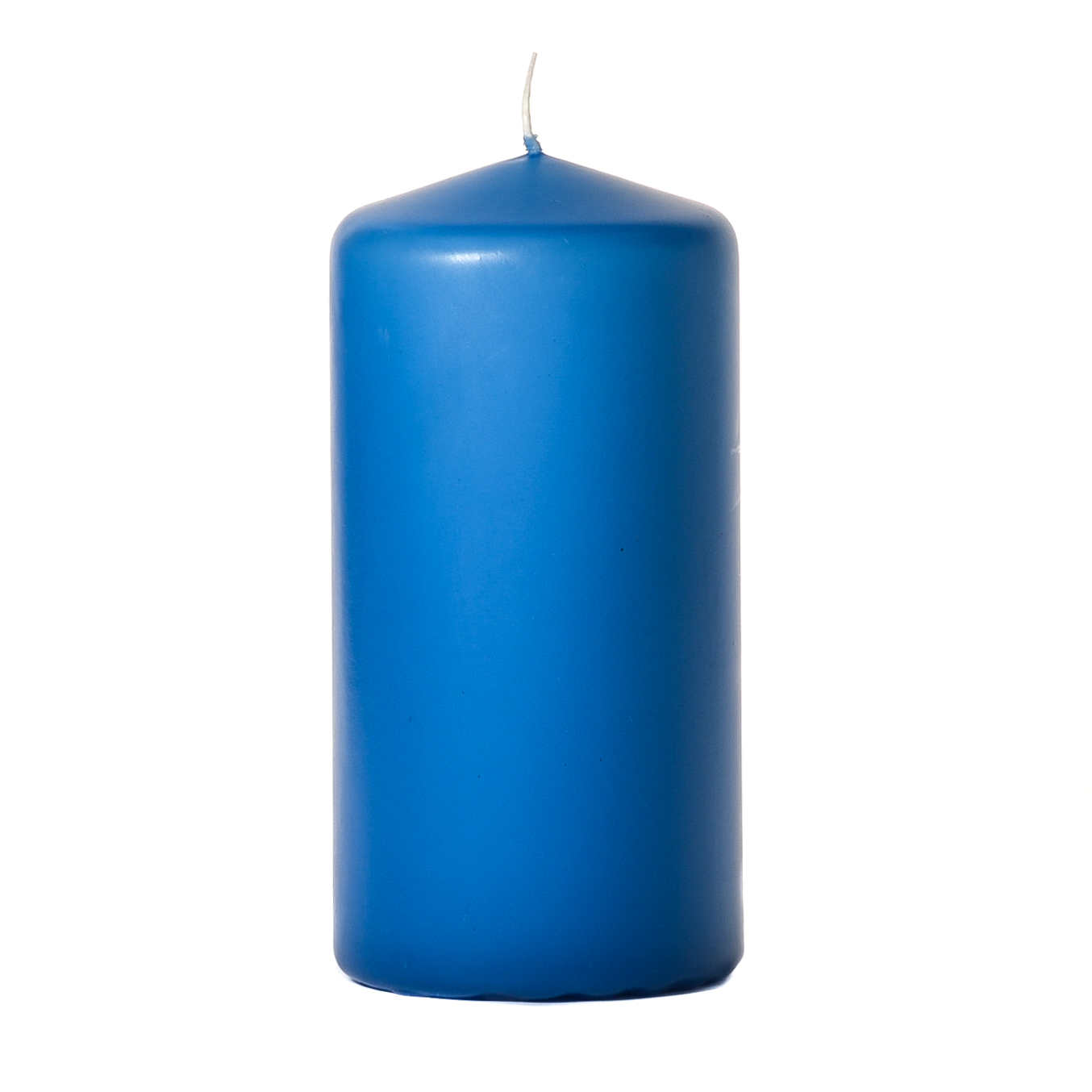 3x6 Colonial Blue Pillar Candles Unscented