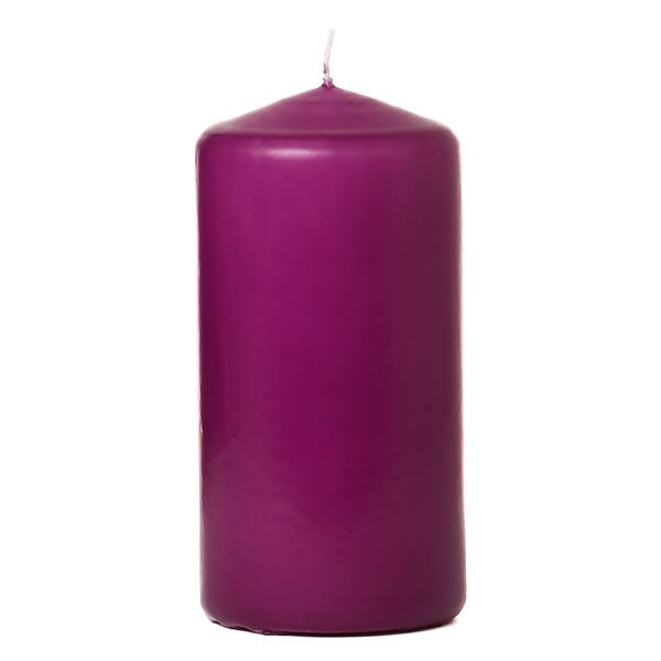 3x6 Lilac Pillar Candles Unscented