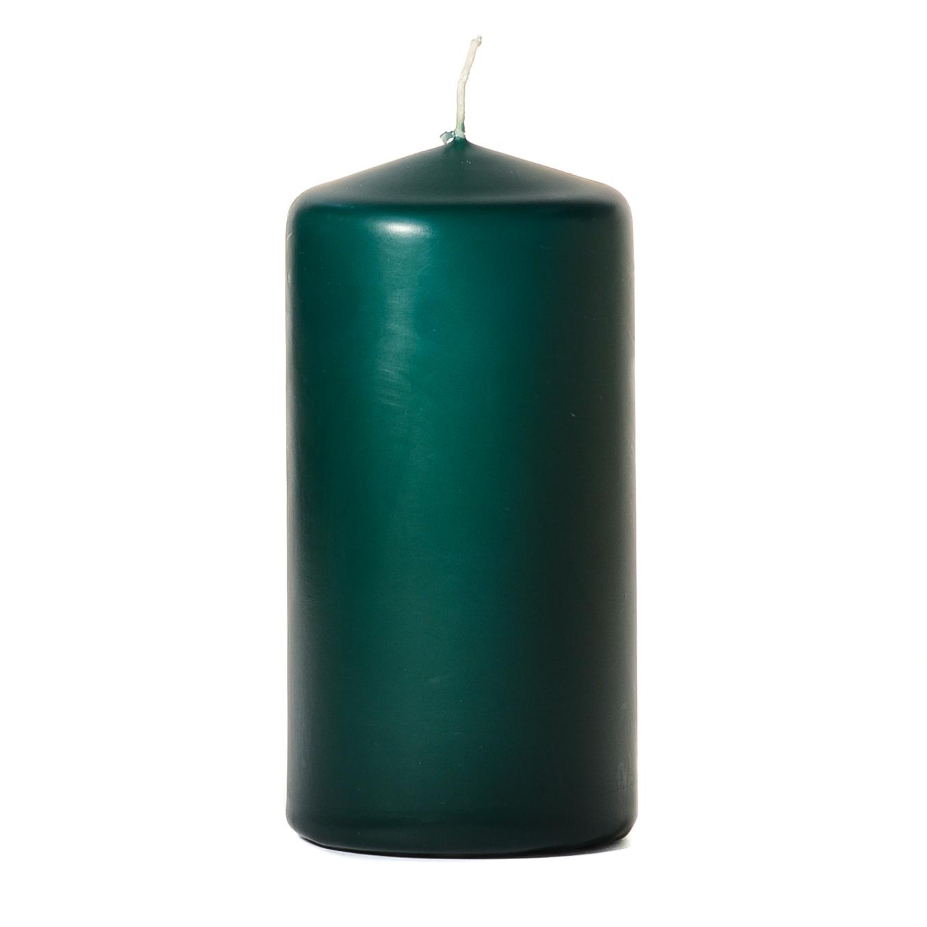 3x6 Hunter Green Pillar Candles Unscented