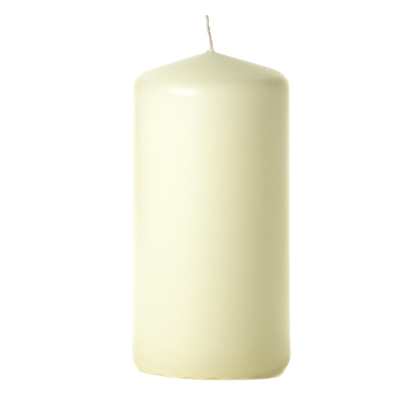 3x6 Ivory Pillar Candles Unscented