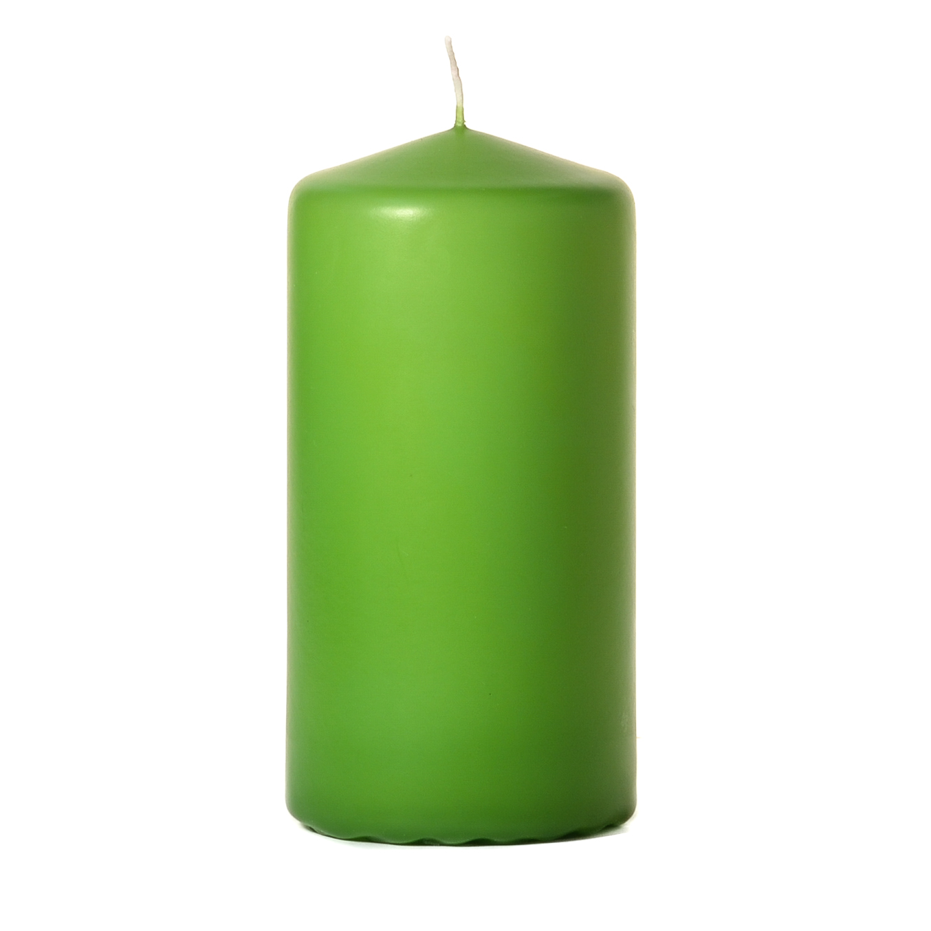 3x6 Lime Green Pillar Candles Unscented